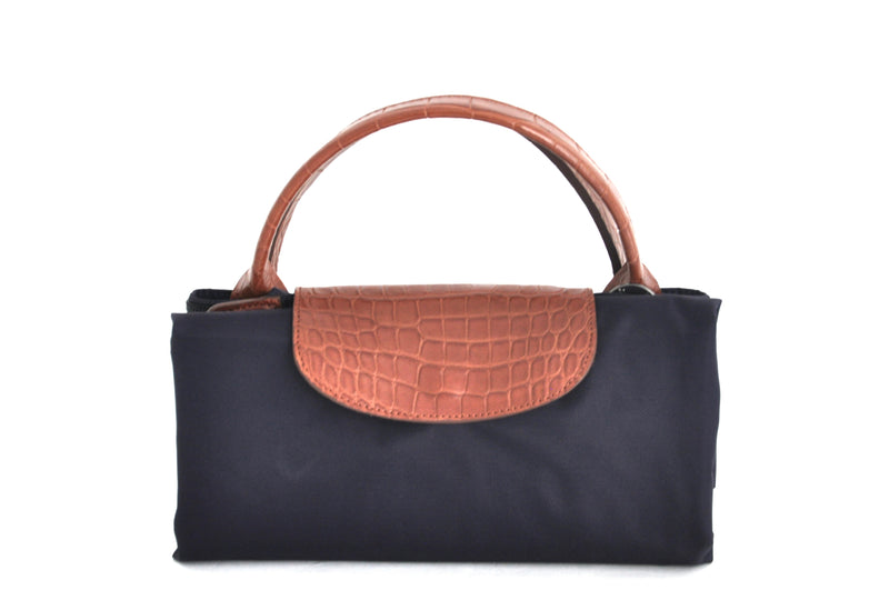 LONGCHAMP BAG WITH ALLIGATOR HANDLES - IN STOCK