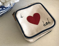 TRAVEL BOX - PERSONALIZED NAME WITH ALLIGATOR HEART EMBELLISHMENT