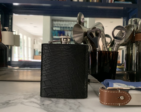 BLACK MATTE ALLIGATOR FLASK - IN STOCK NOW