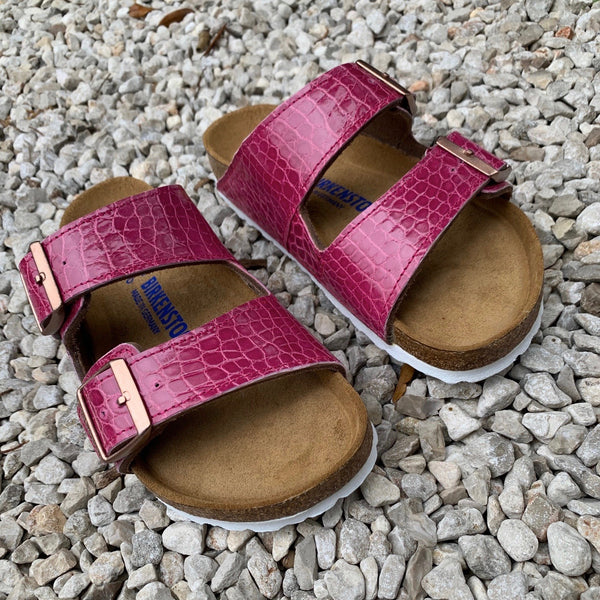 ARIZONA BIRKENSTOCKS - PINK GLAZE ALLIGATOR - IN STOCK NOW size 37