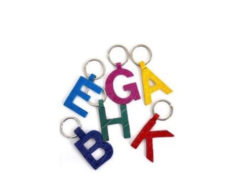 DAY 8: MINI LETTER KEYCHAINS - IN STOCK NOW