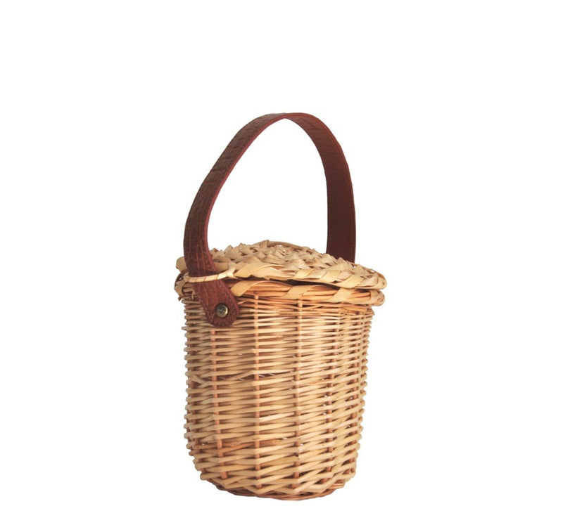 MINI BIRKIN BASKET WITH ALLIGATOR HANDLES - ASSORTED COLORS