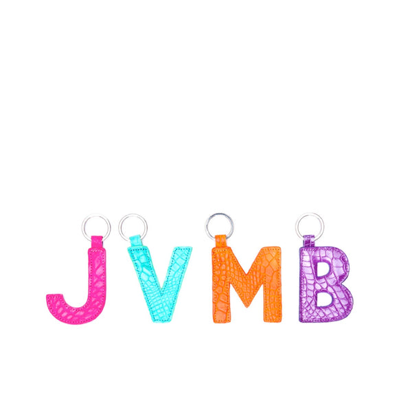 LETTER KEYCHAIN, DOUBLE SIDED - CONTRACT TANNING