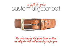 ALLIGATOR BELT GIFT CARD