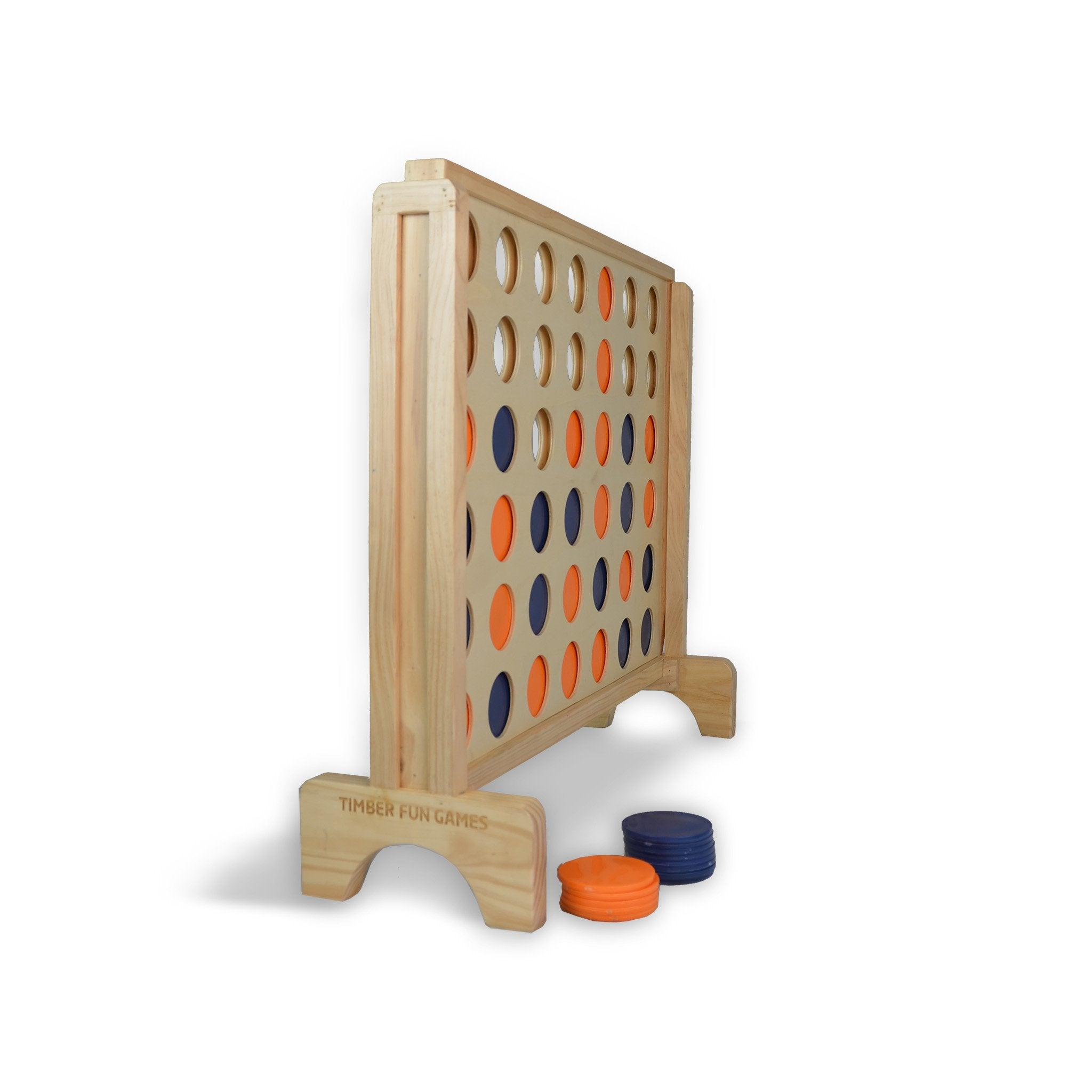 Giant 4 in a Row Connect 4 Wooden Garden Lawn Game