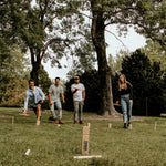 Kubb Viking Chess Wooden Garden Lawn Game