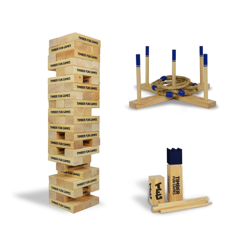 Entertainers Package 1 - Giant Tumble Tower, Kubb & Giant Ring Toss Quoits