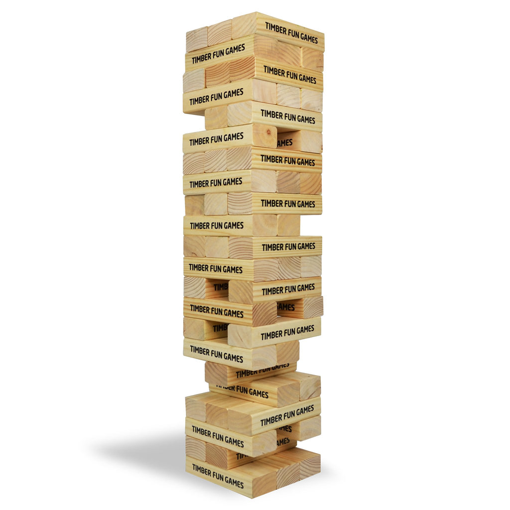Giant Tumble Tower Jenga Wooden Garden Lawn Game
