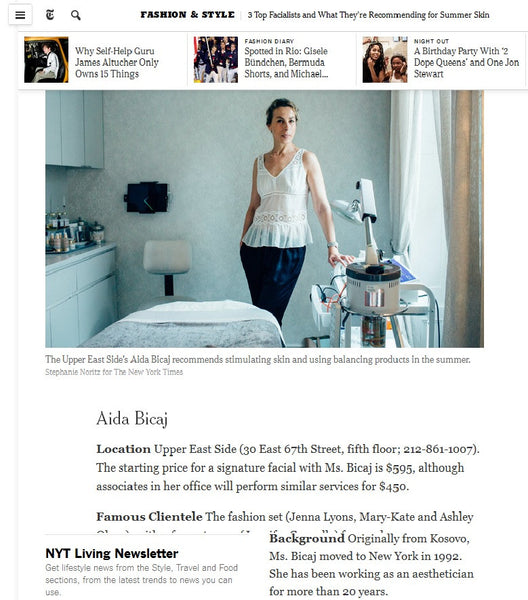 New York Times feature Aida Bicaj