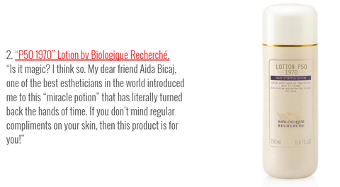 Lotion p50 recomended by Aida Bicaj