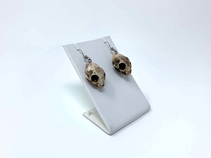 Cat Skull Earrings Gothic Jewelry