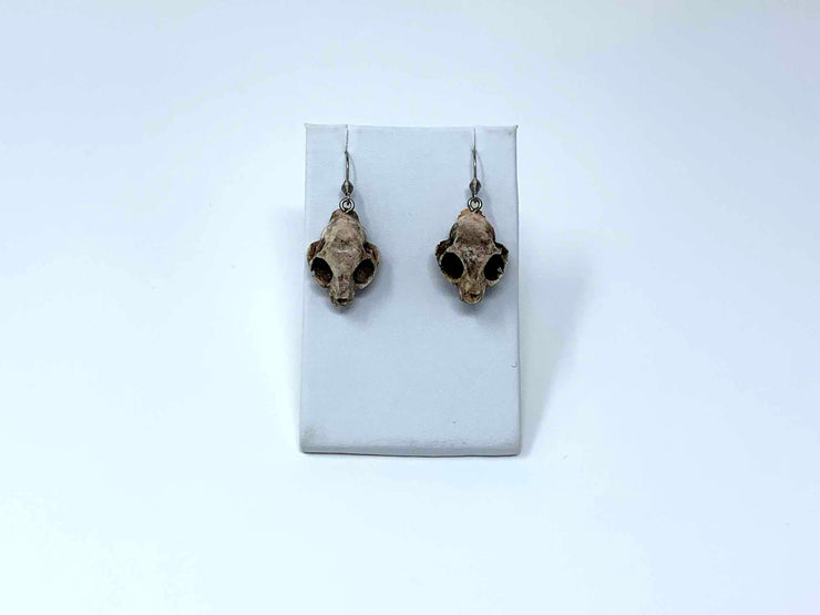 Cat Skull Earrings for Her