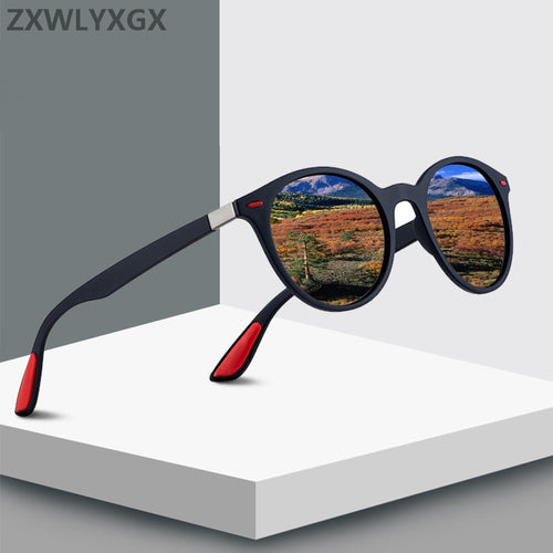 Retro Rivet Polarized Sunglasses Oval Frame UV400
