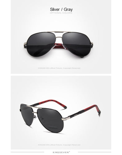 Men Vintage Aluminum Polarized Sunglasses