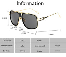 Load image into Gallery viewer, Classic luxury Large frame sunglasses