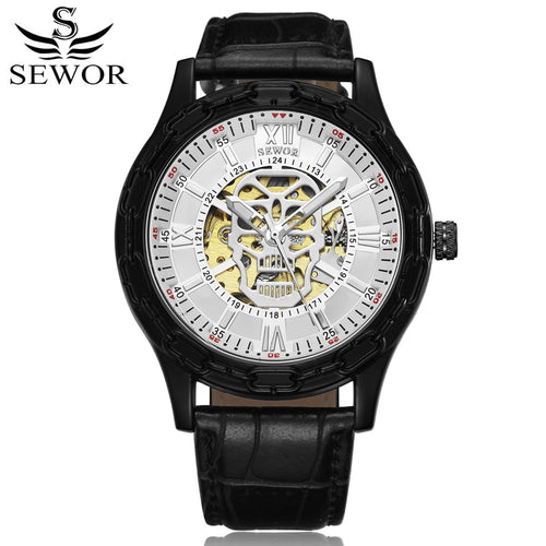Luxury Man Skull Skeleton Wristwatche
