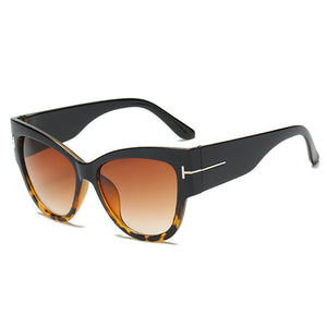 Big Frame Mirror Cat Eye Sunglasses