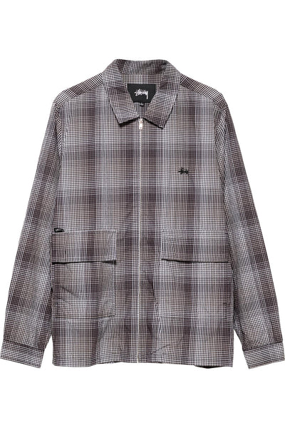 Neat Check Zip Up Shirt - R8gzwear