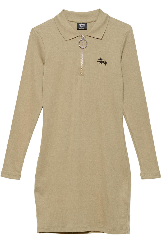 Monterey Rib Polo Longsleeve Dress - R8gzwear