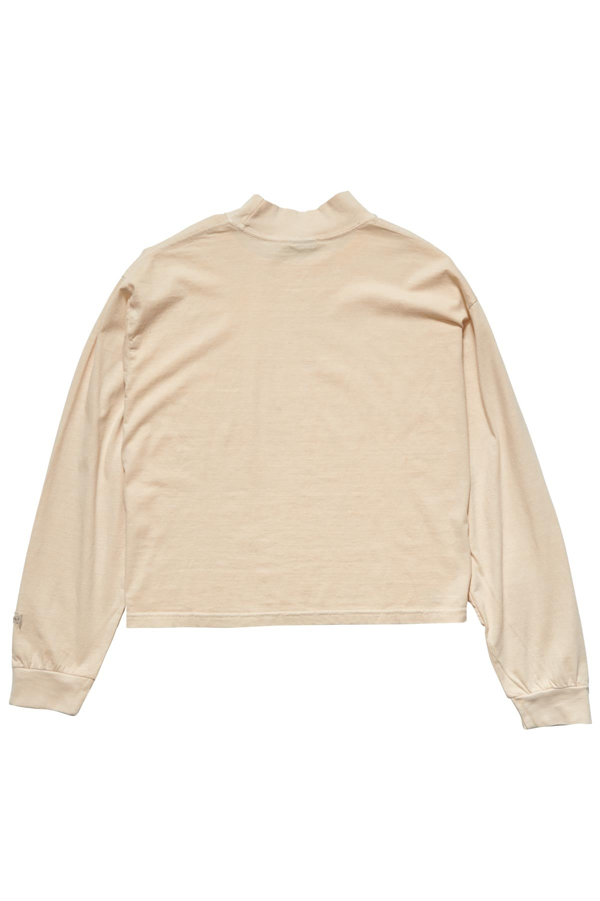 Text LS Mock Neck Tee