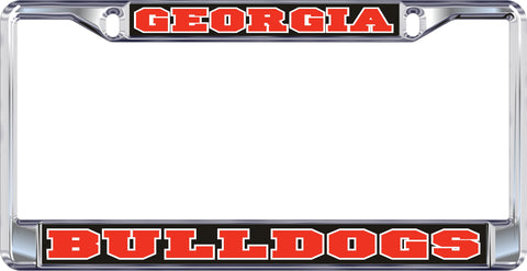 UGA Georgia Bulldogs Metal Car Tag Frame Black