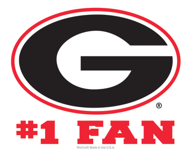 UGA Georgia Bulldogs Wincraft #1 Fan Decal