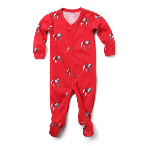 Wes and Willy All-Over Standing Dog Onesie