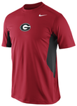 UGA Georgia Bulldogs Nike Hypercool Short Sleeve Top - Red