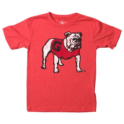 UGA Georgia Bulldogs Wes & Willy Toddler Standing Bulldog T-Shirt - Red