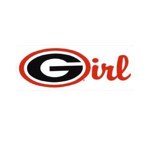 UGA Georgia Girl Oval G Decal
