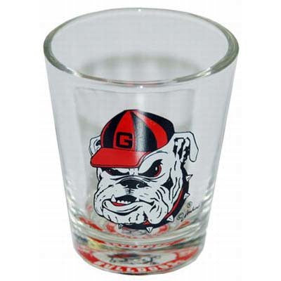 UGA Clear Georgia Bulldogs Shot Glass