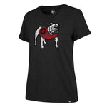 UGA Georgia Bulldogs 47 Brand Women's Standing Bulldog T-Shirt - Black