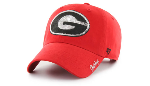 UGA 47 Brand Women's Bling Oval G Red Cap
