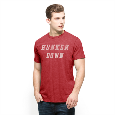 UGA Georgia Bulldogs 47 Brand Hunker Down T-Shirt - Red