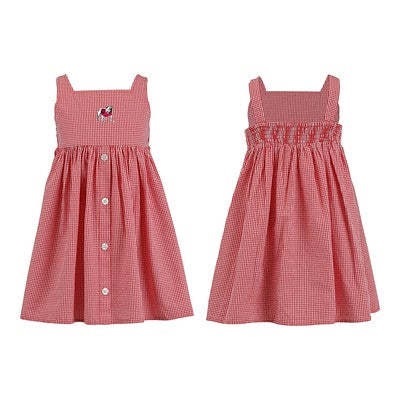 Georgia Bulldogs Girls Toddler Gingham Dress