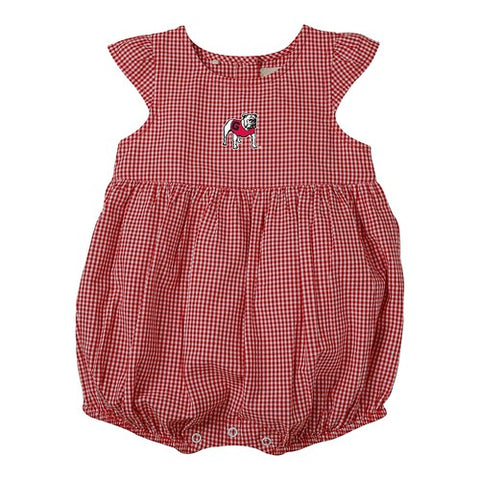Georgia Bulldogs Infant girl's GINGHAM Snap One-Piece outfit