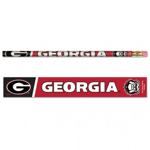 UGA Georgia Bulldogs 6 Pack Wooden Pencils