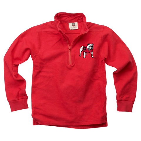 UGA Georgia Toddler 1/4 Zip Standing Bulldog Sweatshirt