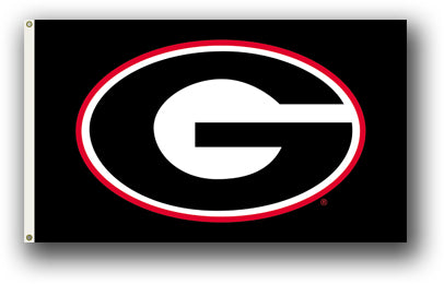 UGA Bulldogs Flag
