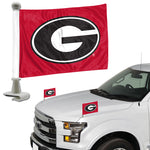 UGA Georgia Bulldogs Mini Car Flag Set