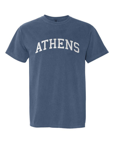 Athens, Georgia Comfort Colors T-Shirt - Midnight Blue
