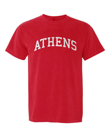 Athens, Georgia Comfort Colors T-Shirt - Red