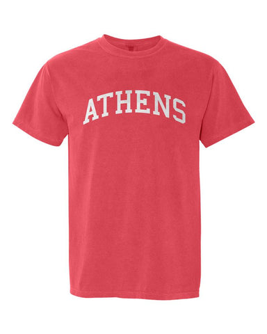 Athens, Georgia Comfort Colors T-Shirt - Watermelon