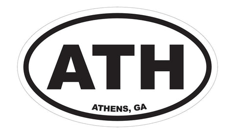 Athens Georgia ATH Euro Decal Sticker