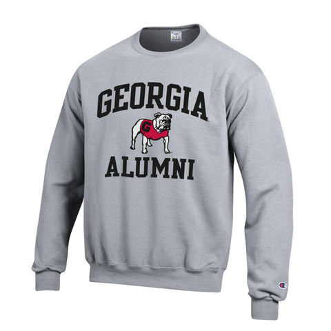 UGA Champion GEORGIA ALUMNI Crew Sweatshirt - Gray
