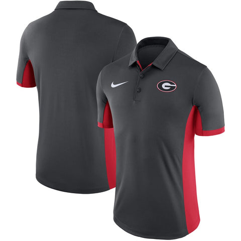 UGA Georgia Bulldogs Nike Dri-FIT Polo - Charcoal