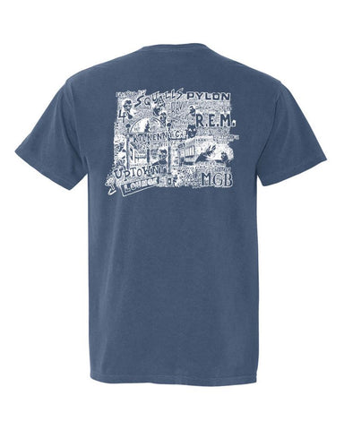 Athens, Georgia 1988 Bands Comfort Colors T-Shirt  - Midnight Blue
