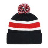 UGA 47 Brand Standing Bulldog Striped Beanie - Black