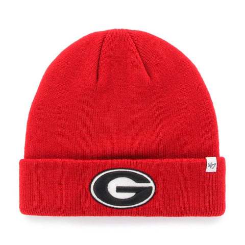 UGA 47 Brand Oval G Cuff Knit Beanie - Red