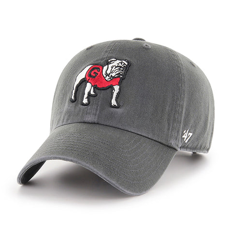 UGA Georgia Bulldogs 47 Brand Adjustable Standing Bulldog Cap - Charcoal